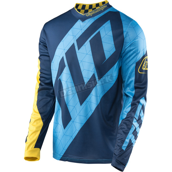 Troy Lee Designs Blue/Yellow GP Quest Jersey - 307130356