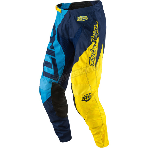 Troy Lee Designs Blue/Yellow GP Quest Pants - 207130354