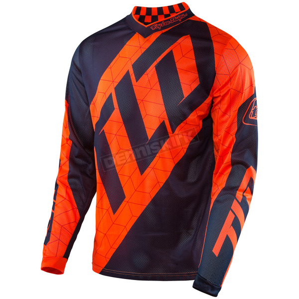 Troy Lee Designs Youth Fluorescent Orange/Navy GP Air Quest Jersey - 309130732