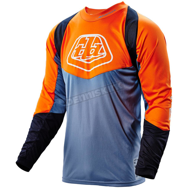 Troy Lee Designs Orange/Gray Adventure Radius Jersey - 312001904