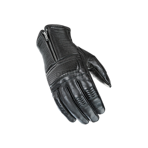 Joe Rocket Black Cafe Racer Leather Gloves - 1630-1003