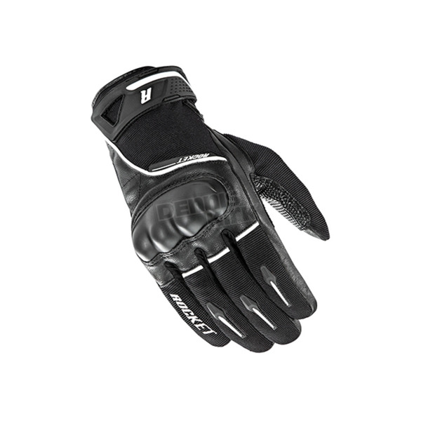 Joe Rocket Black/White Super Moto Gloves - 1632-1003