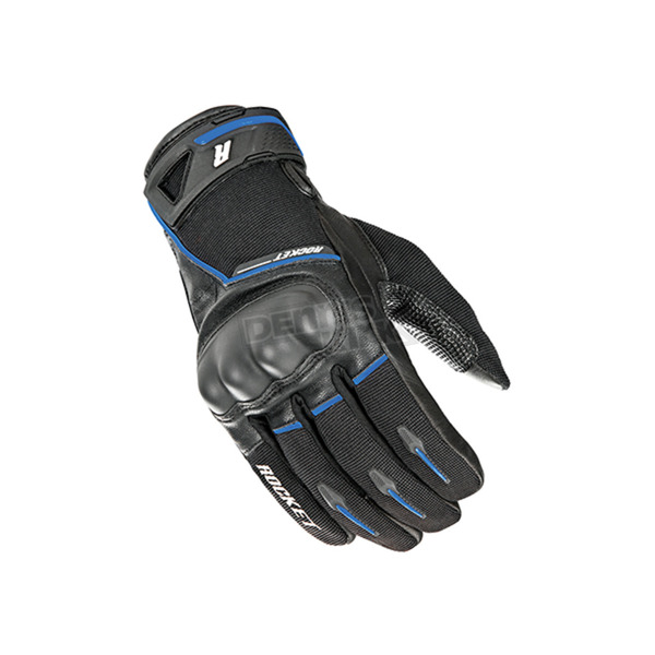 Joe Rocket Black/Blue Super Moto Gloves - 1632-1202