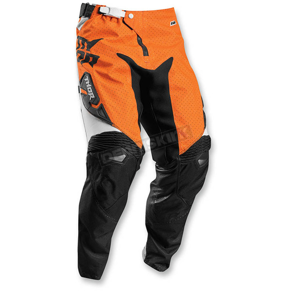 Thor Youth White/Orange Fuse Air Pants - 2903-1402