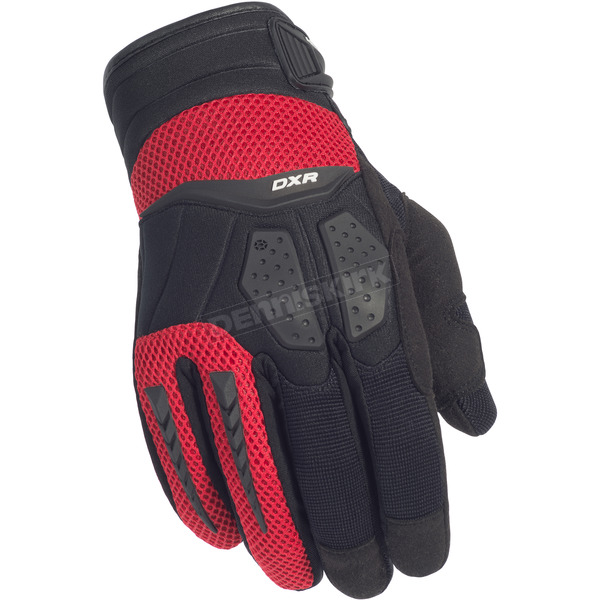 Cortech Black/Red DXR Gloves - 8316-0101-07