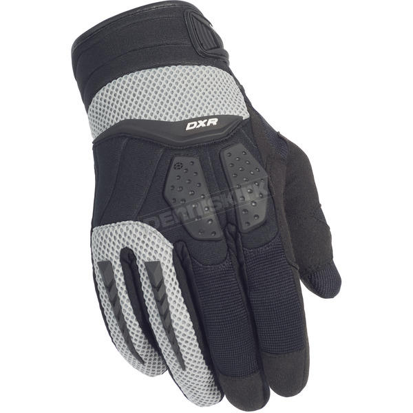 Cortech Black/Silver DXR Gloves - 8316-0107-04