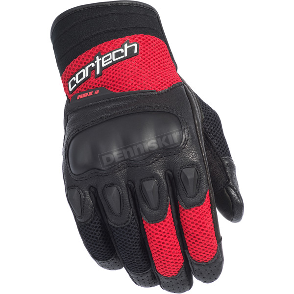 Cortech Black/Red HDX 3 Gloves - 8330-0301-05