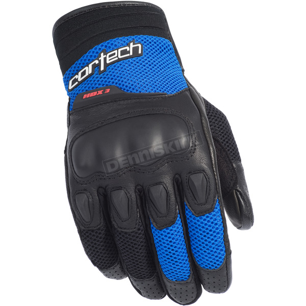 Cortech Black/Blue HDX 3 Gloves - 8330-0302-06