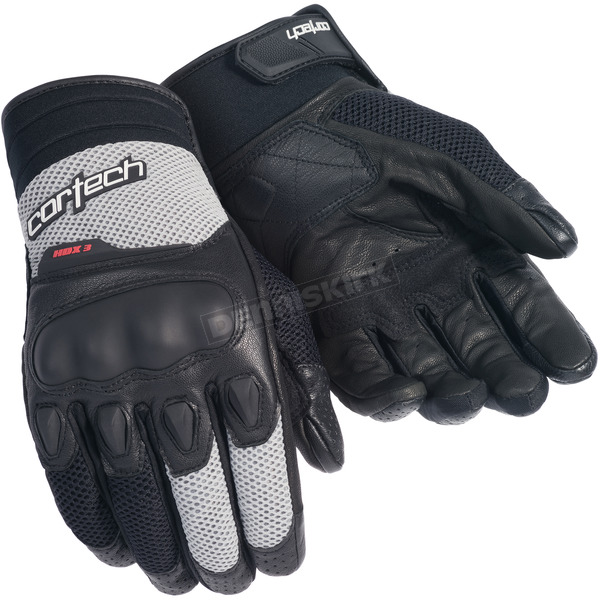Cortech Black/Silver HDX 3 Gloves - 8330-0307-03