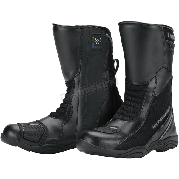 Tour Master Women's Black Solution Waterproof Air Boots - 8605-2105-41