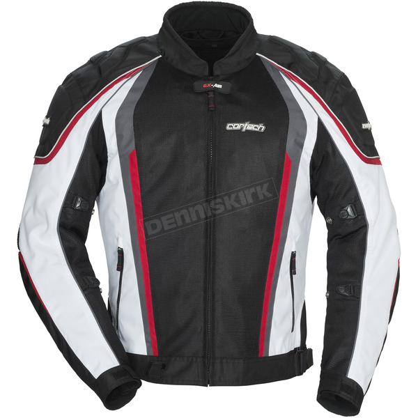 Cortech White/Black GX-Sport Air 4.0 Jacket - 8985-0409-03