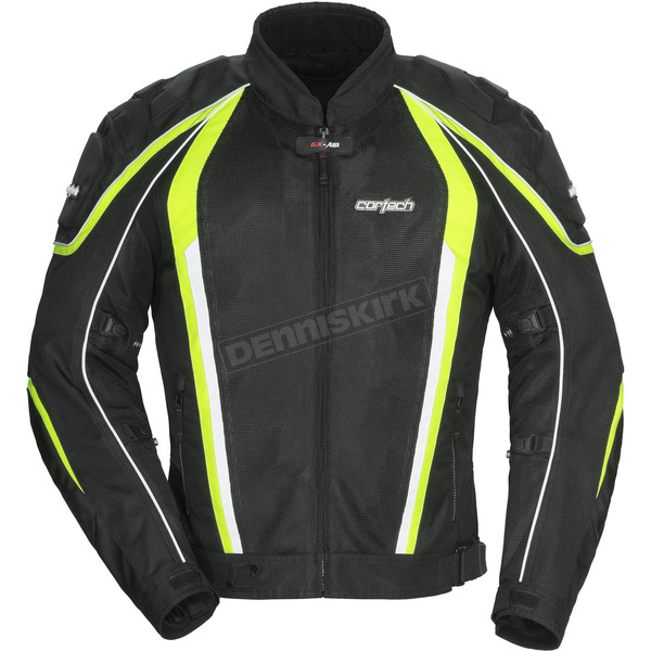 Cortech Black/Hi-Viz GX-Sport Air 4.0 Jacket - 8985-0413-07