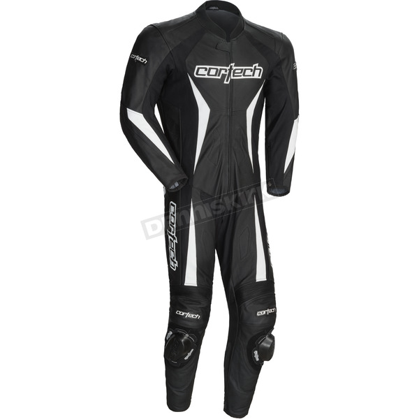 Cortech Black Latigo 2.0 Leather Race-Ready One-Piece Suit - 8991-0235-04