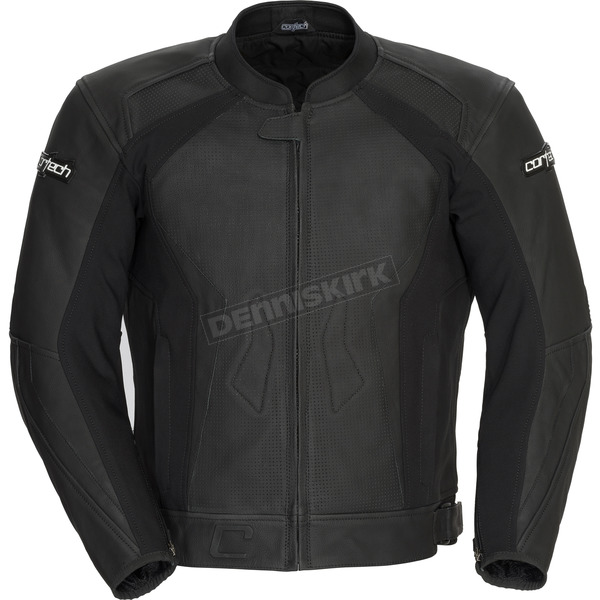 Cortech Flat Black Latigo 2.0 Leather Jacket - 8992-0235-08
