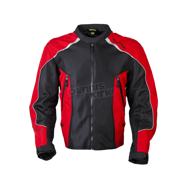 Scorpion Black/Red Ascendant Jacket - 14003-8