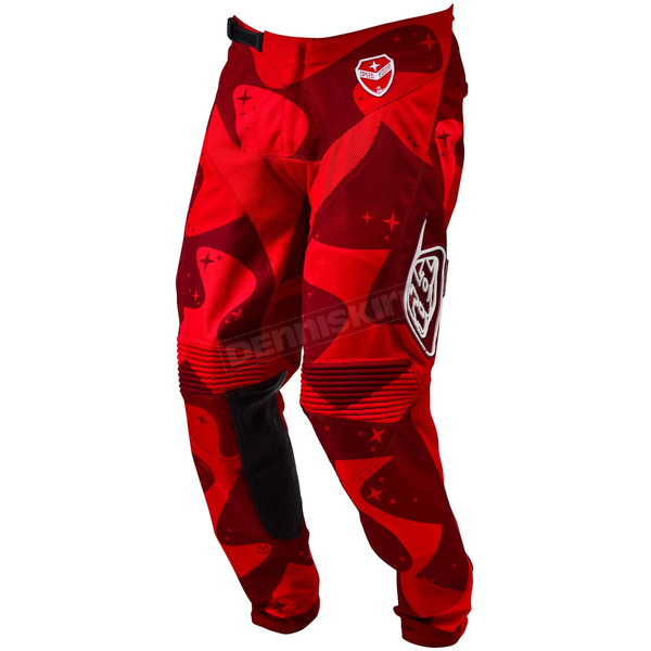 Troy Lee Designs Red Cosmic Camo LTD SE Pants - 203012403