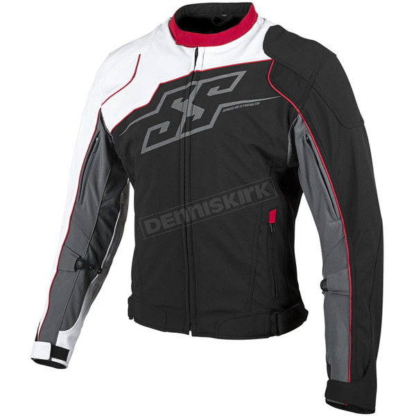 Speed and Strength White/Red/Black Hammer Down Textile Jacket - 879697