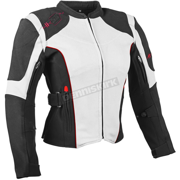 Speed and Strength Women's White/Black Comin in Hot Textile Jacket - 879711