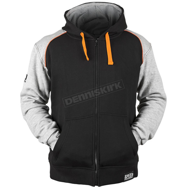 Speed and Strength Gray/Orange/Black Cruise Missile Armored Hoody - 879757