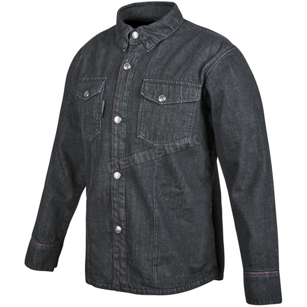 Speed and Strength Black Gridlock Denim Moto Shirt - 879762