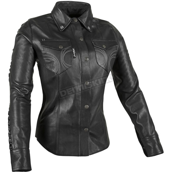 Speed and Strength Women's Leather Black Heart Moto Shirt - 879779