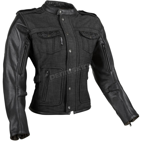 Speed and Strength Women's Black Six Speed Sisters Leather/Denim Jacket - 879956
