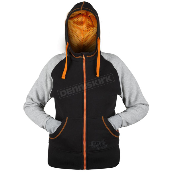 Speed and Strength Women's Gray/Orange/Black American Beauty Armored Hoody - 879894