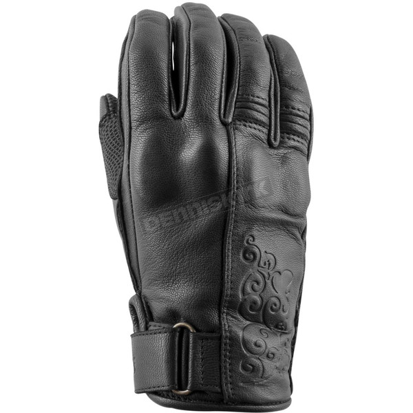 Speed and Strength Women's Black Heart Leather Gloves - 879991