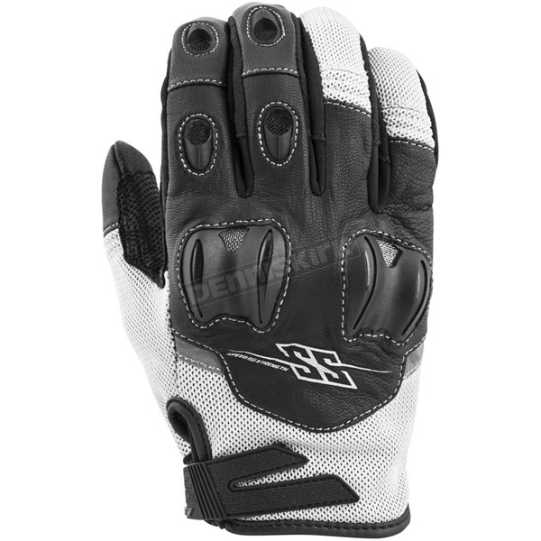 Speed and Strength White/Black Power and The Glory Mesh Gloves - 872238