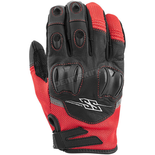 Speed and Strength Red/Black Power and The Glory Mesh Gloves - 872250