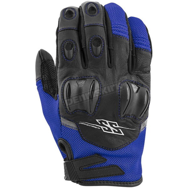 Speed and Strength Blue/Black Power and The Glory Mesh Gloves - 872255