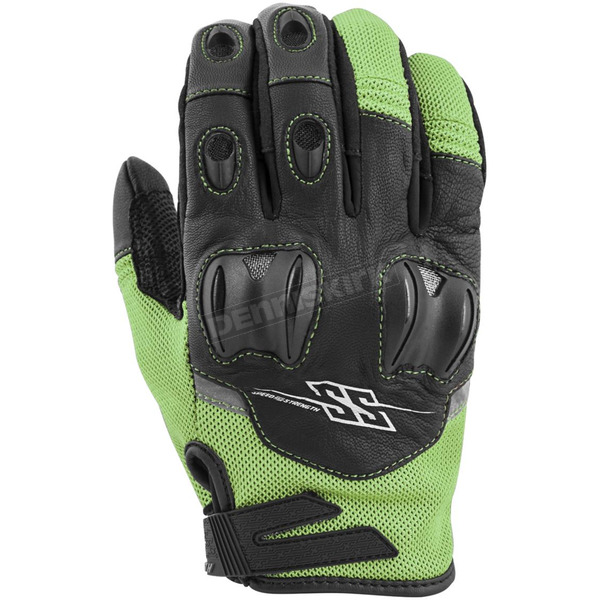 Speed and Strength Green/Black Power and The Glory Mesh Gloves - 872259