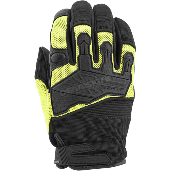 Speed and Strength Hi-Viz/Black Hammer Down Mesh Gloves - 872275
