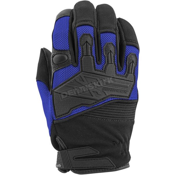Speed and Strength Blue/Black Hammer Down Mesh Gloves - 872287