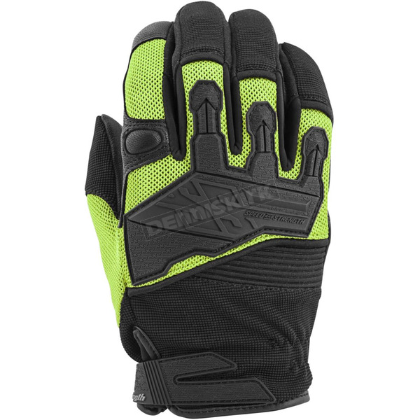 Speed and Strength Green/Black Hammer Down Mesh Gloves - 872292