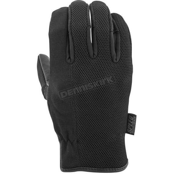 Speed and Strength Black Last Man Standing Mesh Gloves - 872297