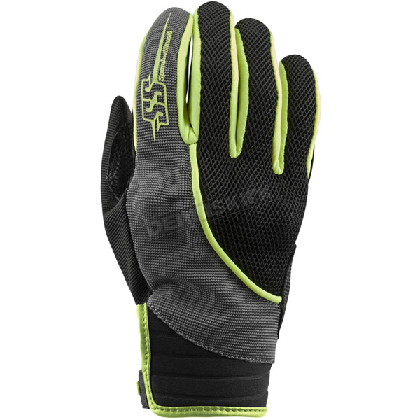 Speed and Strength Women's Hi-Vis/Gray/Black Comin in Hot Mesh Gloves - 872954
