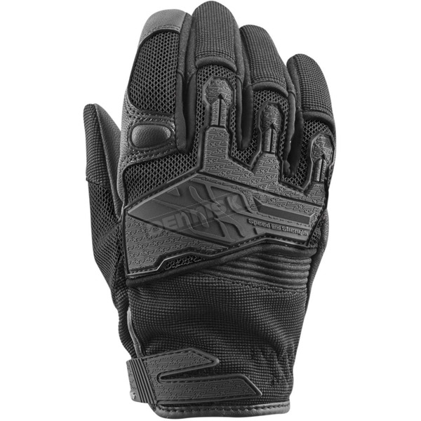 Speed and Strength Women's Black Backlash Mesh Gloves - 872957