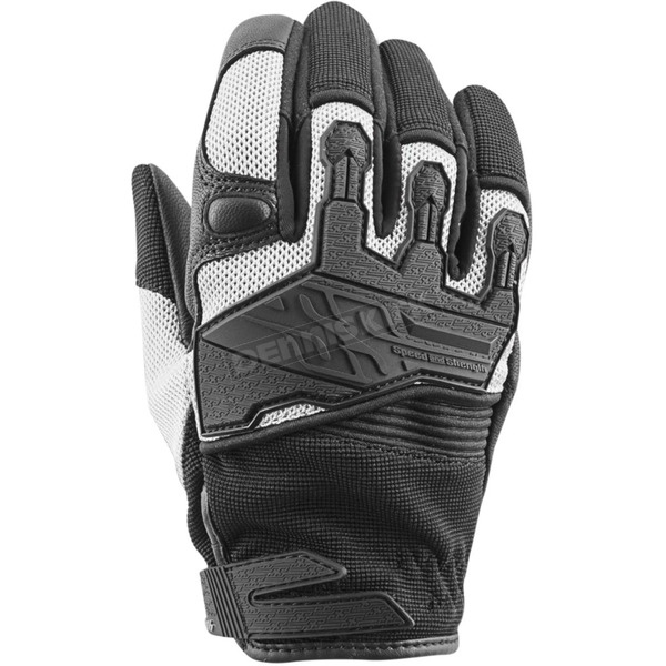 Speed and Strength Women's White/Black Backlash Mesh Gloves - 872961