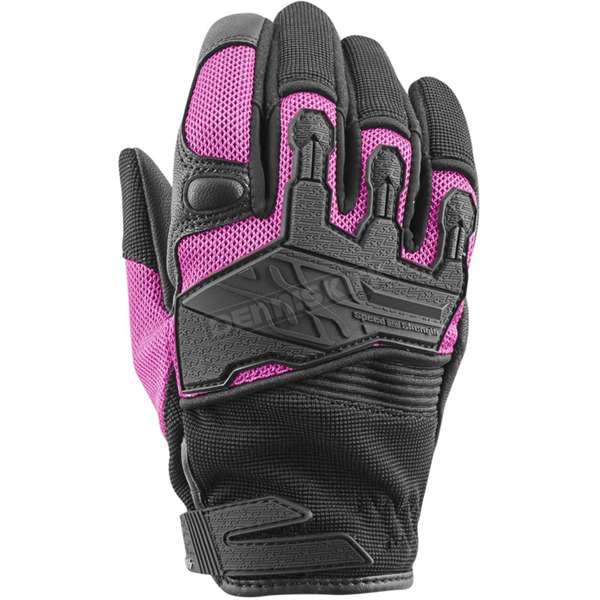 Speed and Strength Women's Pink/Black Backlash Mesh Gloves - 872970
