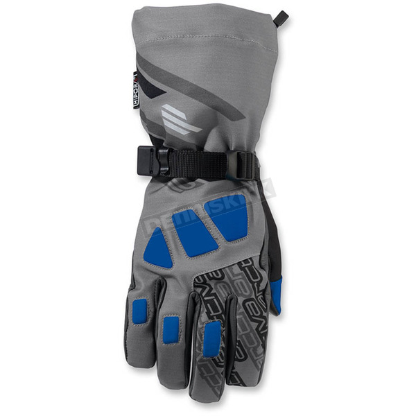 Arctiva Gray/Blue Quest Gloves - 3340-1084