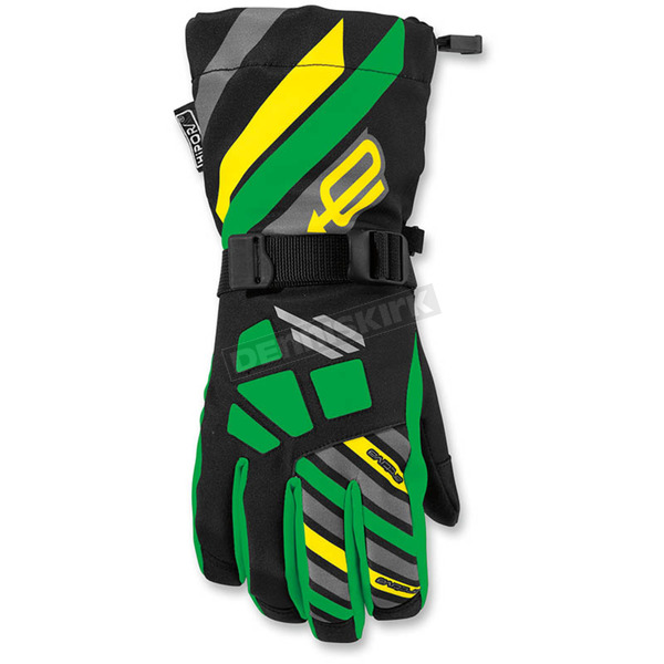 Arctiva Youth Black/Green Ravine Gloves - 3342-0220