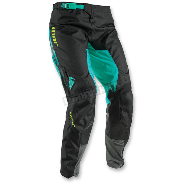 Thor Black/Teal Womens Pulse Facet Pants - 2902-0197