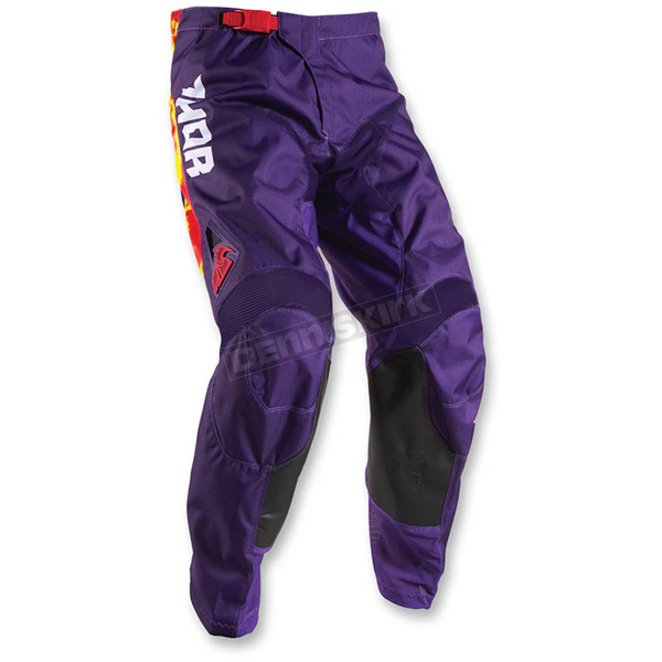 Thor Youth Purple Fire Pulse Tydy Pants - 2903-1459