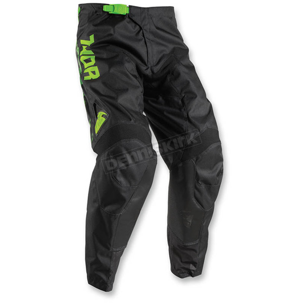 Thor Youth Lime/Black Pulse Tydy Pants - 2903-1470