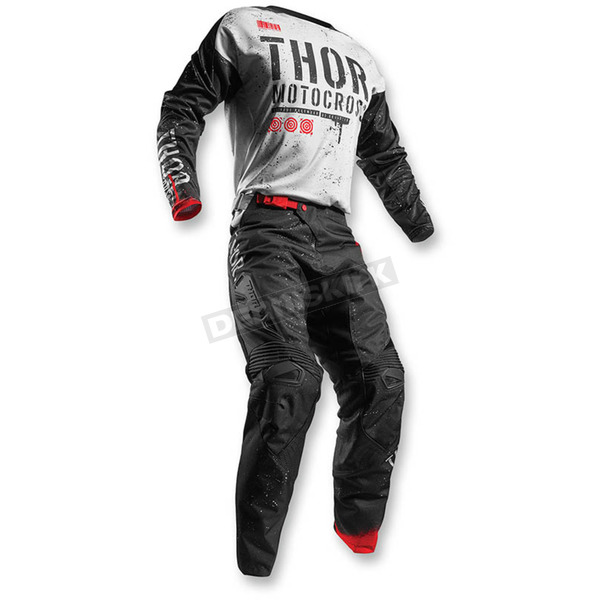 Thor Gray/Black Fuse Objective Jersey - 2910-3848