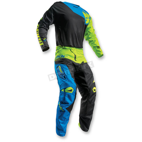 Thor Black/Lime Fuse Pinon Jersey - 2910-3869