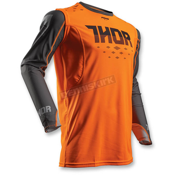 Thor Flo Orange/Grey Prime Fit Rohl Jersey - 2910-3876