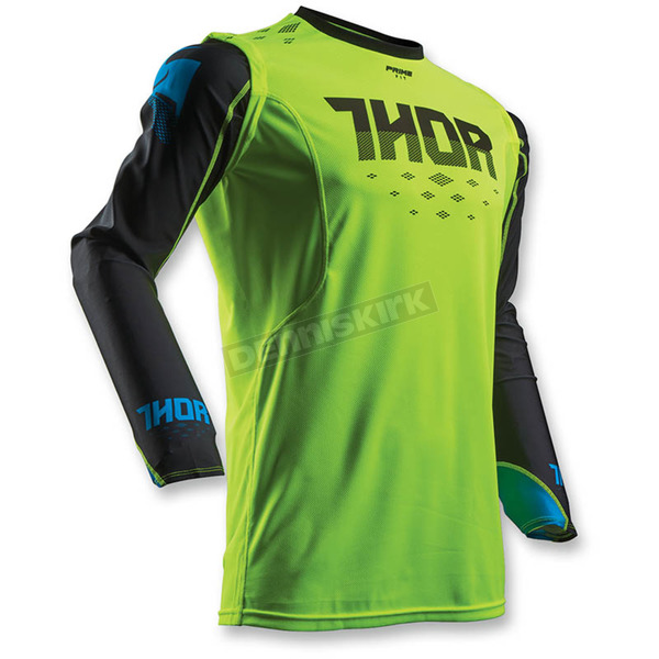 Thor Flo Green/Black Prime Fit Rohl Jersey - 2910-3880