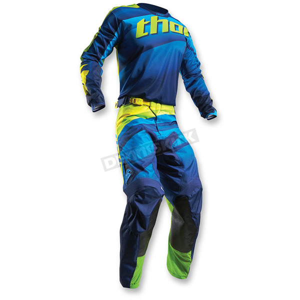 Thor Navy/Lime Pulse Velow Jersey - 2910-3931